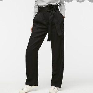 New J Crew Point sur paper bag pants Black 2P